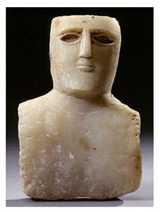 south arabian bust of a man