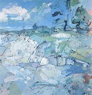 cove, long island, maine by john edward heliker