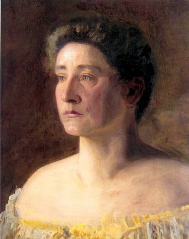 a singer: portrait of mrs. leigo by thomas eakins