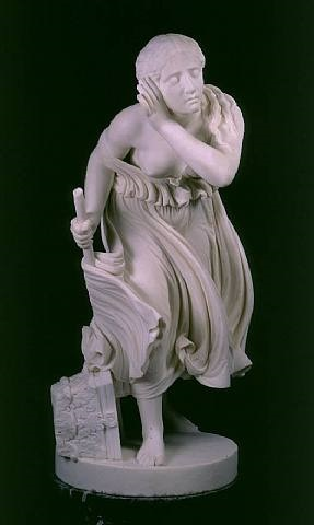 nydia, the blind flower girl of pompeii by randolph john rogers