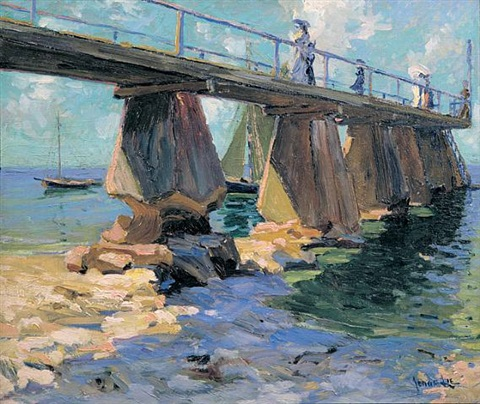 ladies on the bridge by jonas lie