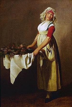 la bouquetiere by louis léopold boilly