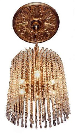 a cut glass chandelier (466)