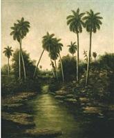 rio y palmeras by eduardo morales