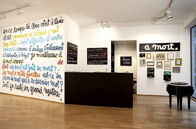 vue de l'exposition à la galerie daniel templon, impasse beaubourg, paris / exhibition view at galerie daniel templon, impasse beaubourg, paris by ben