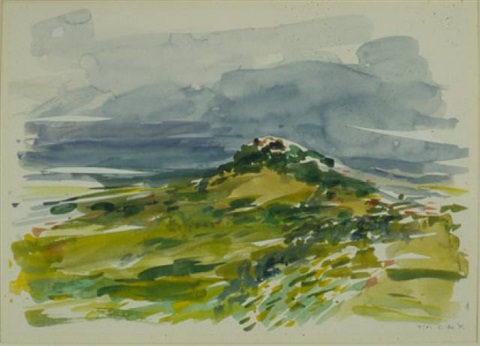 monte porgio: approaching storm by elaine de kooning