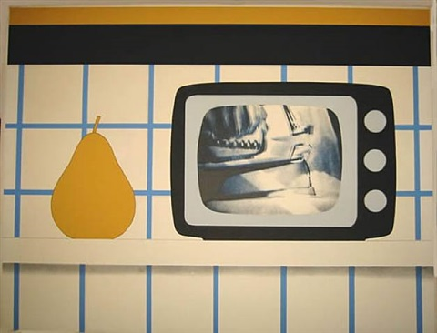 tv still life by tom wesselmann