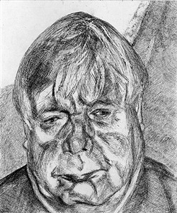 on view - works on paper by lucian freud