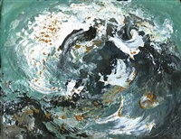 wave tossing shingle ii by maggi hambling