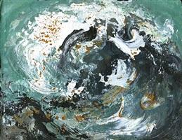 wave tossing shingle ii by maggi hambling