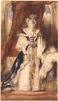 sketch for the state portrait of queen adelaide by sir david wilkie