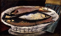 untitled (fish on plate) by marsden hartley