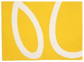 white bands on yellow by ellsworth kelly