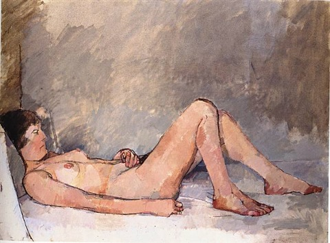 nude of an italian girl by euan uglow