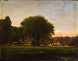 pastoral scene by george inness