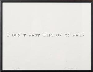 i want walls by william anastasi