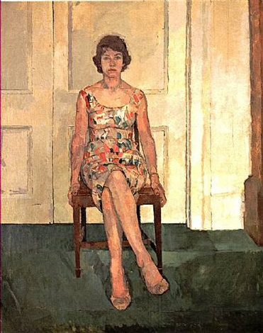 susan sitting by euan uglow