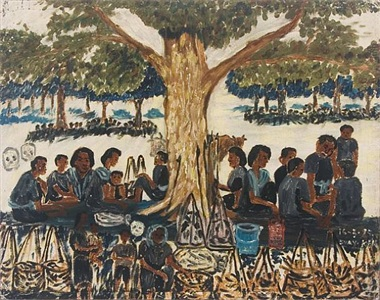 lunch during khmer rouge times by ken svay