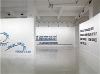 installation view by lawrence weiner