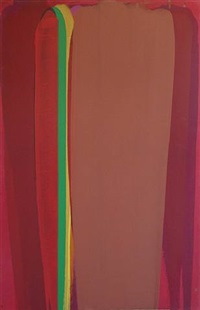 maroon & brown with green line by john bainbridge copnall