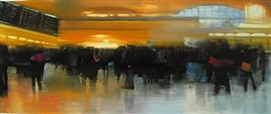 nyc, grand central station, commuting by david allen dunlop (sold)