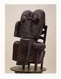 la femme assise by miguel berrocal