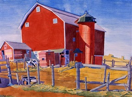red barn by winold reiss