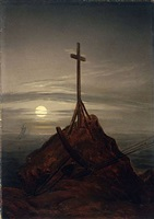 das kreuz an der ostsee / the cross on the baltic by caspar david friedrich