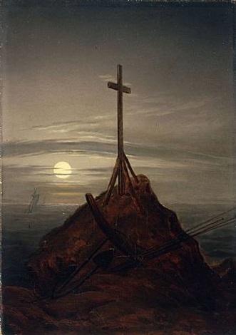 das kreuz an der ostsee / the cross on the baltic by caspar david friedrich