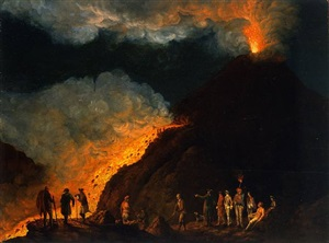 vesuvausbruch im jahre 1774 / volcanic eruption of the vesuv in the year 1774 by jacob philipp hackert