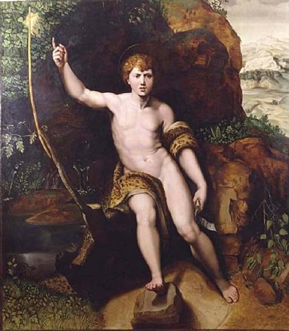 johannes der täufer in der wüste / the young st john the baptist by raphaël