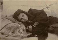 portrait sicilian youth with cherry blossom (103503) by baron wilhelm von gloeden