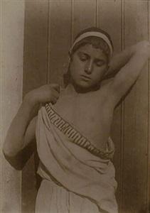 sicilian youth in toga cloth (103454) by baron wilhelm von gloeden