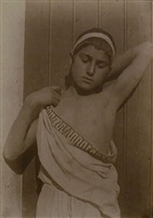 sicilian youth in toga cloth (103454) by baron wilhelm von gloeden