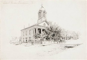 court house, charleston, va by harry fenn