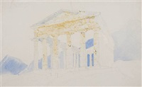 temple at segeste, sicily by william h. bartlett