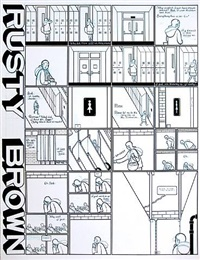 rusty brown- alice in the hallway by chris ware