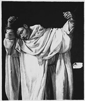 untitled (after zurbaran, saint serapion, 1628) by robert longo
