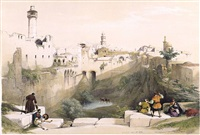 pool of bethesda - jerusalem by david roberts