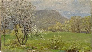 spring, canaan, ct (sold) by william trost richards