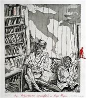 the parents, a pedestrian and karl marx (die eltern, ein passant und karl marx) by maxim karlovitch kantor