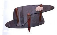 boomerang small table by carlo mollino