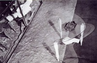 boomerang small table (documentation, photo from 1937) by carlo mollino