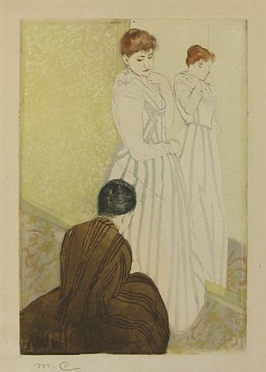 the fitting by mary cassatt