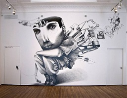 mural at christopher henry gallery by claudio ethos