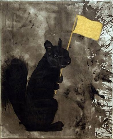 black squirrel society small by mario ybarra jr.