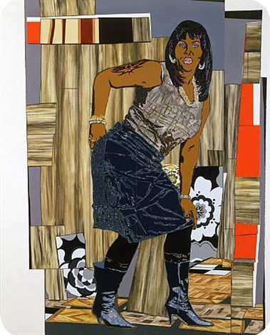 all she wants to do is dance (fran) by mickalene thomas