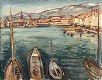 port de toulon by achille emile othon friesz
