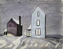two houses by charles ephraim burchfield