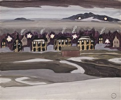 village lights by charles ephraim burchfield